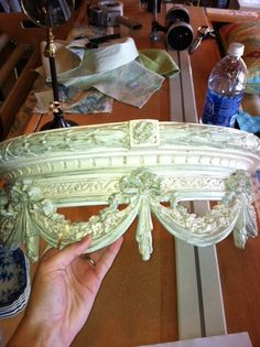 crown to go over the crib and drape fabric from!