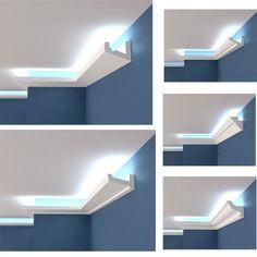 Polystyrol Stuckleiste Lichtprofile LED indirekte Beleuchtung Hartschaum 2M-12M | Möbel & Wohnen, Beleuchtung, Wandleuchten | eBay!