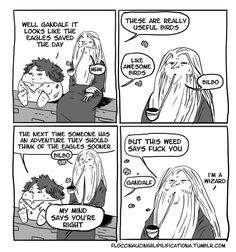 What the actual... Why does Bilbo look like frickin humpty dumpty and Gandalf...your alright.