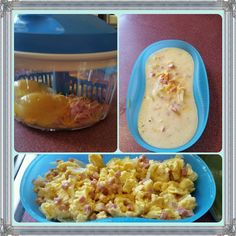 Enjoy a quick and easy breakfast with our Tupperware Kitchen products. Quick easy microwave eggs using the Breakfast Maker and Quick Chef