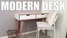 DIY : Making a modern desk / Console table // Hjemmelaget skrivebord / Konsollbord - YouTube