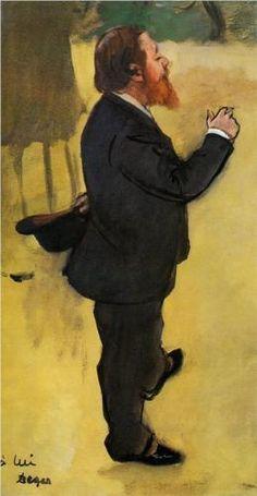 Carlo Pellegrini  - Edgar Degas Start Date: 1876 Completion Date:1877 Style: Impressionism Genre: portrait Technique: watercolor Gallery: Tate Britain, London, England, UK