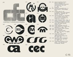 Collection of vintage logos from a mid-70′s edition of the book World of Logotypes.