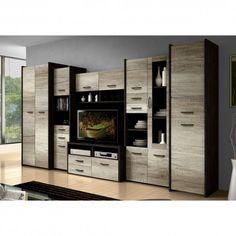 Ensemble meuble TV - Azura Home Design Interior Design Your Home, Apartment Balconies, Tv Cabinets, New Room, Modern Furniture, Locker Storage, House Design, Living Room, Woodworking