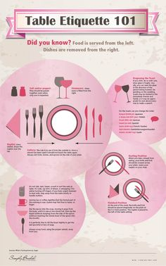 Place Settings & Table Etiquette 101 for your Wedding — Infographic Planning Menu, Party Planning, Wedding Planning, Wedding Tips, Dining Etiquette, Etiquette Dinner, Wedding Etiquette, Etiquette And Manners, Fingerfood Party