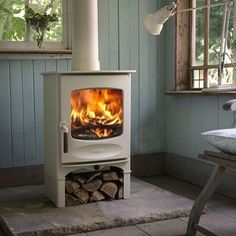 Cosy  #autumn #logs #blue #cream {image from Pinterest}