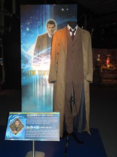 David Tennant Tenth Doctor Who costumes on display...