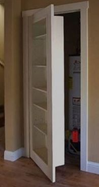 Very cute to hide a closet. Also, put 2 on french doors and hide a whole bedroom.