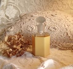 intage 6 Sided Glass Perfume Bottle With Celluloid Sleeve