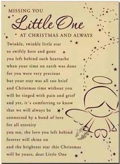Missing You Little One miss you family quotes heaven in memory christmas christmas quotes christmas quote