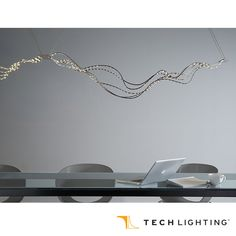 Can be linked together end-to-end to create longer, continuous runs - Tech Lighting Surge Linear Pendant Light. #TechLighting #LinearPendantLight #LED  Available at loftmodern.com  http://www.loftmodern.com/products/tech-lighting-surge-linear-pendant-light