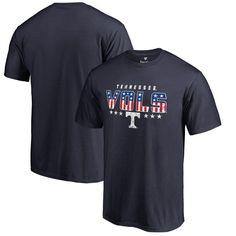 Tennessee Volunteers Fanatics Branded Big & Tall Spangled T-Shirt - Navy