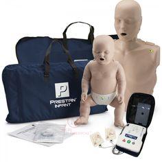 475632f402 CPR Training Kit w. Adult & Infant Manikin w. Feedback & AED Practi-Trainer  Essentials, Dark Tone