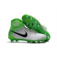 Nike Magista Obra II FG Soccer Cleats - Green Black White Site Nike Magista 8a9ace27b4ee7