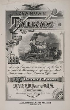 Poor's Manual: The Rise of Business Analysts Railroad Companies, Business Analyst, Ephemera, Manual, Vintage World Maps, United States, The Unit, History, Train