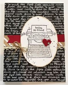 """""""Make-It Monday"""": Tap Tap Tap {typewriter} card created with Stampin' Up! products"""