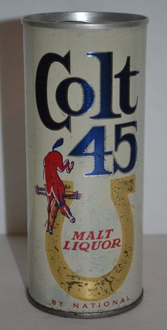 Colt 45 Malt Liquor Beer Vintage Can Pull Tab 16 FL.OZ. by National Brewing Co.