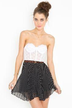 Spotted Swing Skirt - Black. $48.00. http://www.nastygal.com/clothes/spotted-swing-skirt-black