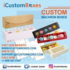 Custom Macaron Boxes  Serve your customers with delicious and mouthwatering macrons with custom macaron boxes and incorporate freshness and taste to your products. iCustomboxes provides free design and shipping for custom macron boxes and help you to make your stand among the competitors. Buy a wide range of glittery boxes for better presentation with hygienic material.