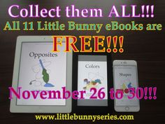 EBooks — Little Bunny series Free Printable Worksheets, Free Printables, Teaching Abcs, Free Kids Books, Bunny Book, Adorable Bunnies, Love Parents, Activity Centers, Matching Games