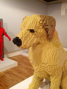Dog made out of Legos at the Art of the Brick exhibit at the Pensacola Museum of Art.