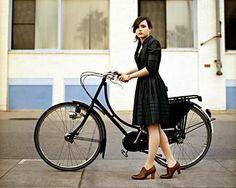 A dress and a bike