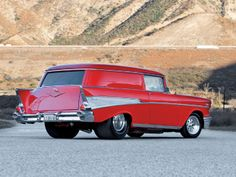 Looks like a Mover Sitting| Pro Street 1957 Chevy Bel Air Sedan Delivery