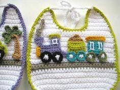 Appliquéd Crochet Bib Pattern  for Boys ( pdf pattern for sale)