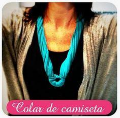 DYI - old shirt collar #dyi #t-shirt #craft # fashion