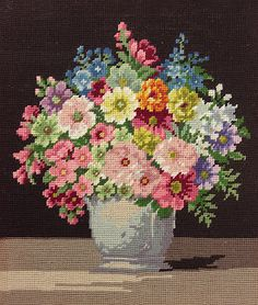 Glorious Colour and Style for the New Season at The Vintage Home Shop Silk Ribbon Embroidery, Vintage Embroidery, Embroidery Patterns, Hand Embroidery, Needlepoint Stitches, Needlework, Cross Stitch Designs, Cross Stitch Patterns, Cross Stitching