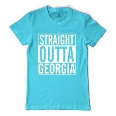 Straight Outta Georgia Women's T-shirt