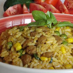 pikantni-sojove-rizoto Fried Rice, Tofu, Fries, Vegetarian, Ethnic Recipes, Nasi Goreng, Stir Fry Rice