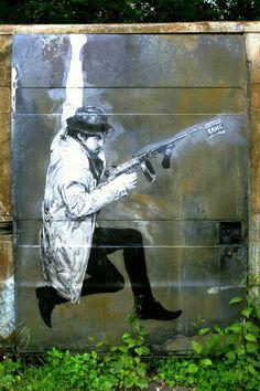 Levalet - street art - In situ art festival, Fort d'Aubervilliers (17 mai au 14 juillet 2014)