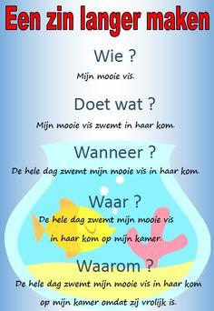Poster met tips om zinnen langer te maken