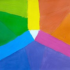 The square color wheel! Art project for kids