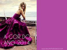 A cor do ano 2014: Pantone Radiant Orchid, um roxo vibrante!