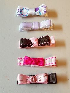various simple adorable hairbows