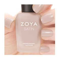 Zoya Ana - Ana by Zoya can be best described as a light toasted almond cream in the exclusive Satin* finish. *Satin formula is a hybrid between matte and glossy polishes and is not intended to be worn with a top coat. Color Family - Nude , Finish - Satin , Intensity - 5 ( 1 = Sheer - 5 = Opaque ) , Tone - Cool .