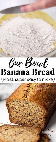 Easy Bread Recipes, Banana Bread Recipes, Cooking Recipes, Moist Banana Bread Recipe With Oil, Best Banana Cake Recipe Moist, Banana Recipes Videos, Quick And Easy Banana Bread Recipe, Banana Bread Recipe Video, Crockpot Recipes