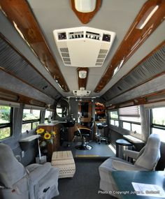 Interior of the Hair I Am Mobile Hair Salon