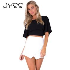 JYSS New arrival Summer Fashion Chiffon T-shirt for women Sexy Backless with bow Butterfly Sleeve Short women clothing 80755