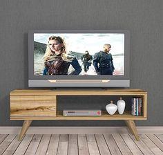 MAYA TV Lowboard / Natur-Holzfarbe / TV Board - Fernsehtisch in elegantem Design