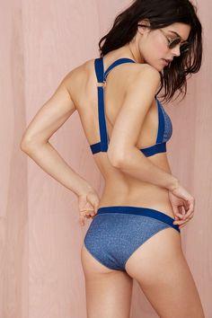 Shakuhachi Good Genes Faux Denim Bikini Bottom | Shop Clothes at Nasty Gal!