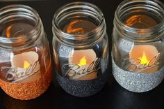 How to Glitter Mason Jars     Amanda Sarver Blog | Scrapbooking | Card Making | Crafts