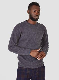 Sigfred Lambswool Knit Grey Melange