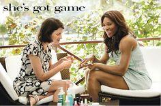 Marina Rust Connor and Serena Williams