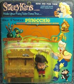 1967 Walt Disney PINOCCHIO Storykins Doll and Record