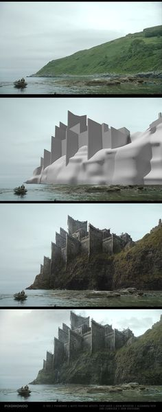 Game of Thrones - matte paintings on BehanceYou can find Matte painting and more on our website.Game of Thrones - matte paintings on Behance Digital Painting Tutorials, Digital Art Tutorial, Matte Painting, Painting Process, Process Art, Painting Studio, Environment Concept Art, Environment Design, Fantasy Landscape
