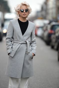 black, gray and white in Milan. #MFW
