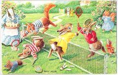Dressed Animal.Medici.-Racey Helps Badminton-Sport m591 by postcardcity, via Flickr